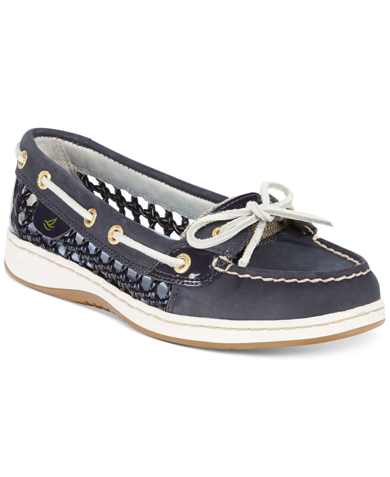 c22dc2580de Lyst - Sperry Top-Sider Women s Angelfish Cane Woven Boat Shoes in Blue