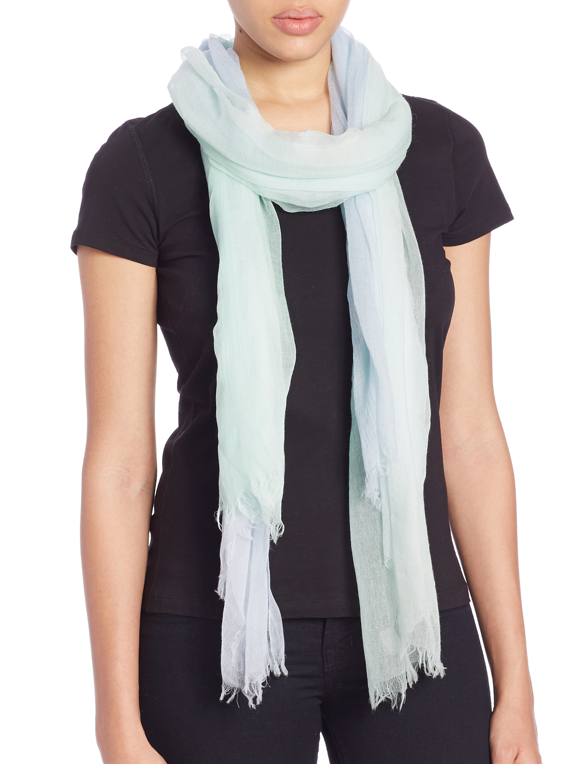 tilo gradation scarf in blue lyst