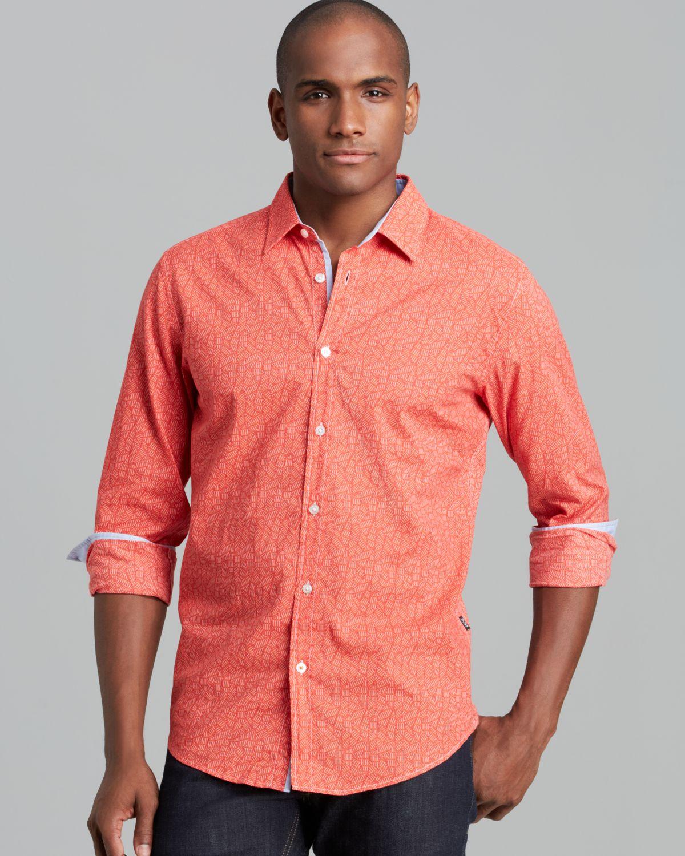 Hugo Boss Boss Ronny Sport Shirt Regular Fit In Red For