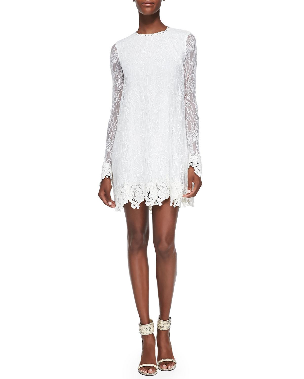 Lyst Rachel zoe Serafina Lace Baby Doll Dress in White