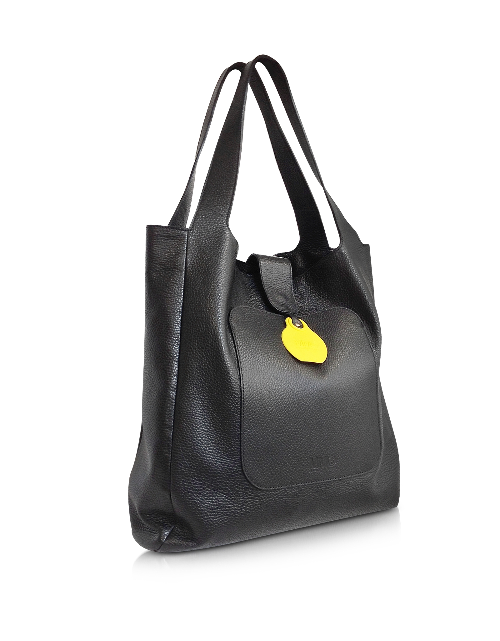 Mm6 by maison martin margiela Large Black Leather Shopping Bag in ...