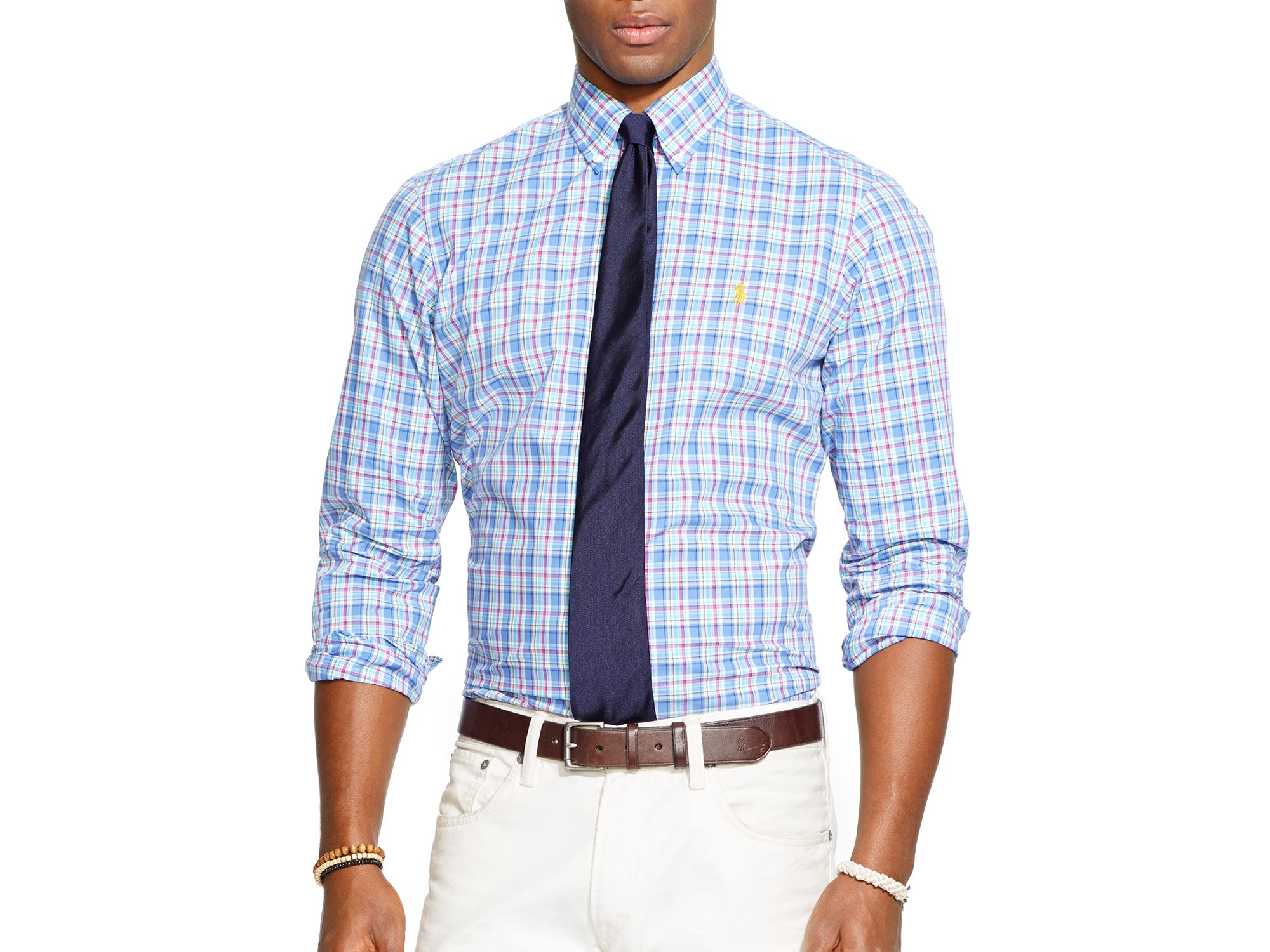 Ralph lauren Polo Plaid Poplin Button Down Shirt - Regular Fit in ...