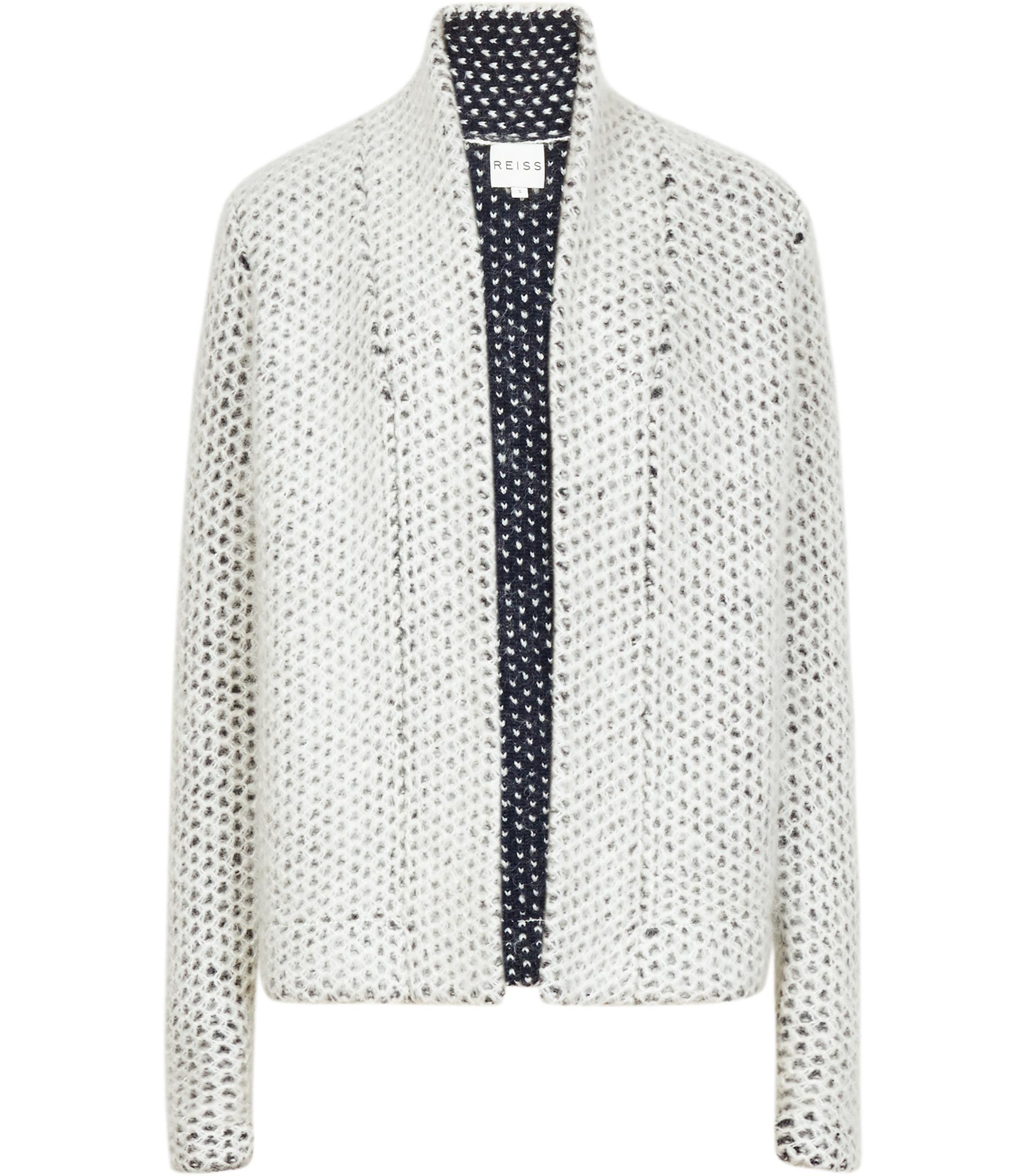 Reiss Mave Textured Chunky Cardigan in Blue | Lyst