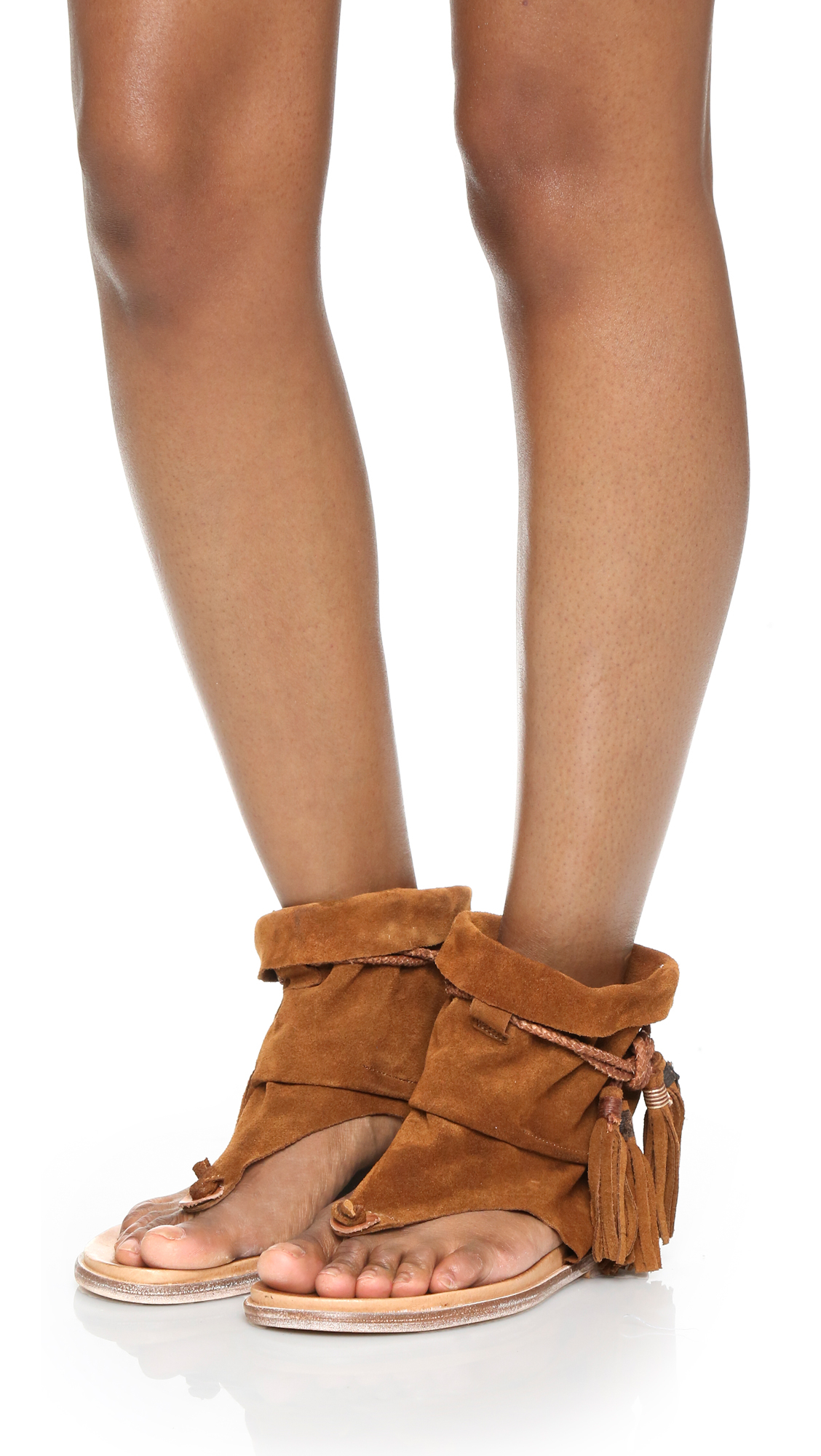 177eb33e909 Lyst - Free People Marlo Boot Sandals in Brown