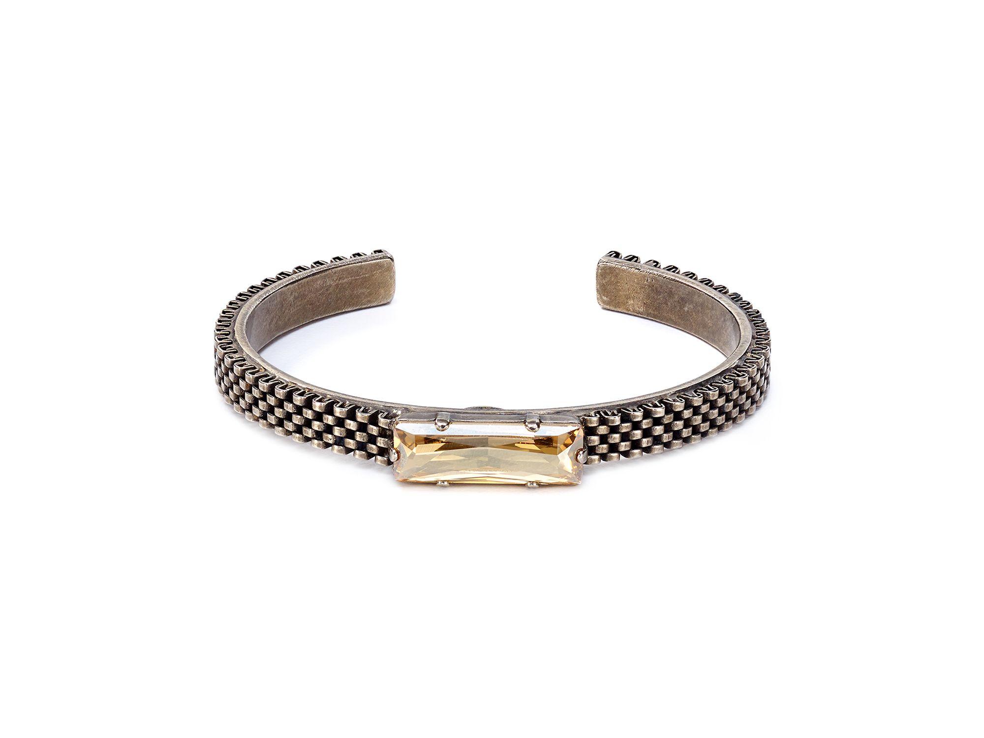 sorrelli golden shadow bracelet in metallic lyst