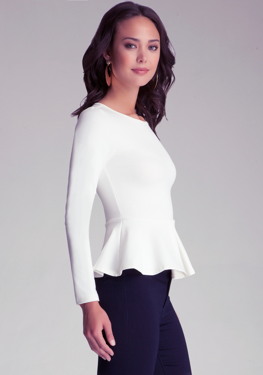 Find long sleeve peplum top at ShopStyle. Shop the latest collection of long sleeve peplum top from the most popular stores - all in one place.