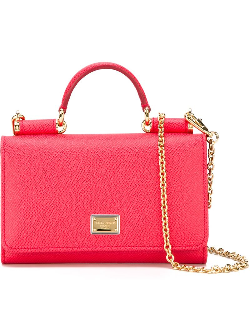 436188c9ae34 Lyst - Dolce   Gabbana Mini  von  Wallet Crossbody Bag in Pink