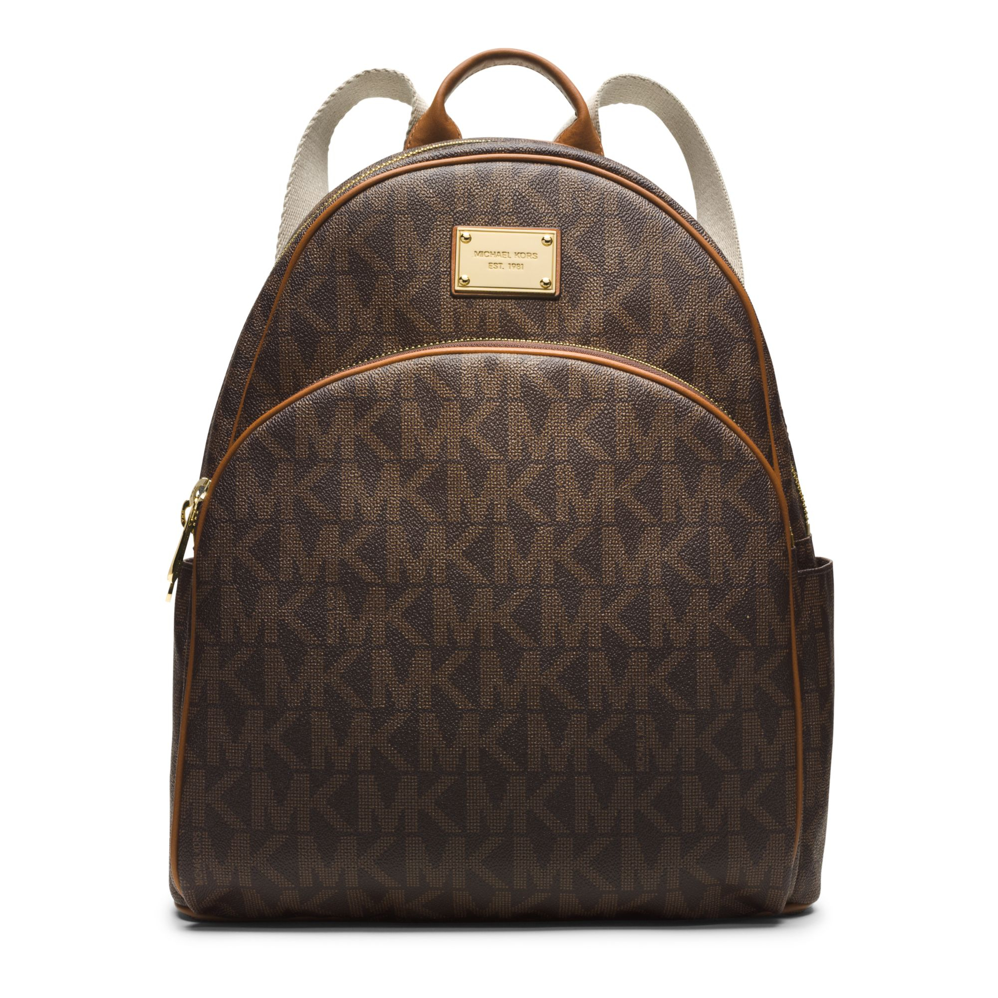 a6b66da79634 Lyst - Michael Kors Jet Set Travel Logo Backpack in Brown