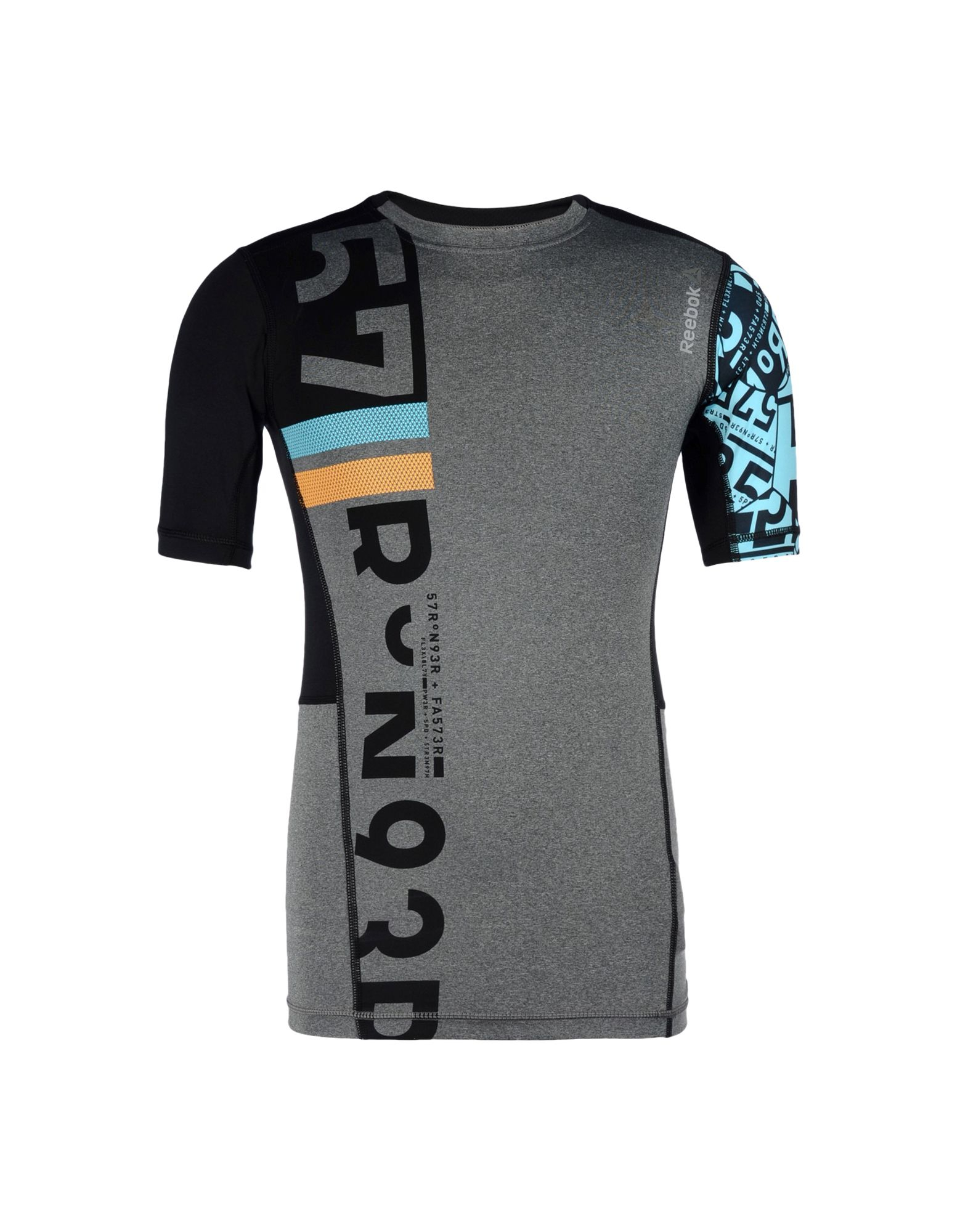 reebok t shirt in black for lyst