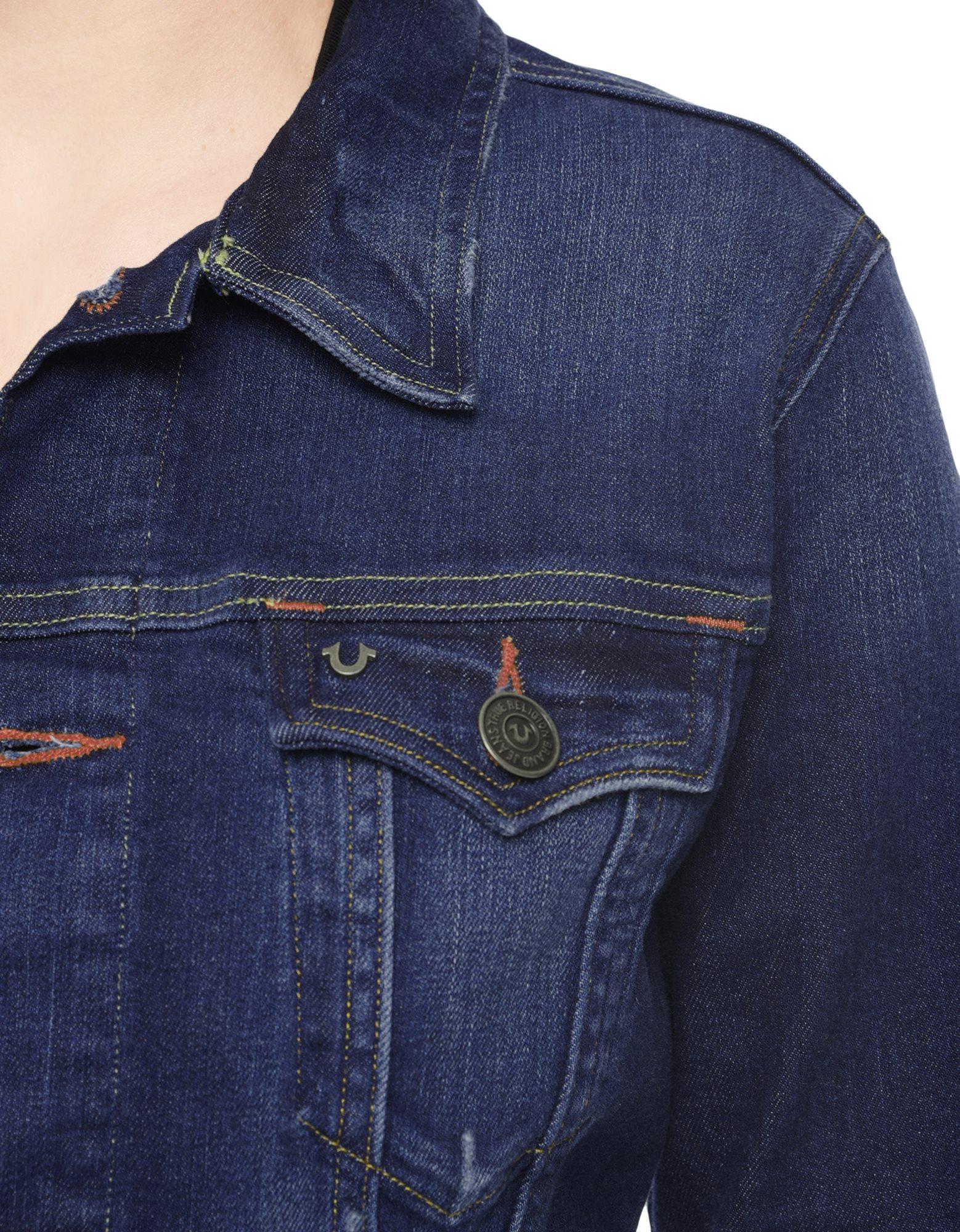 True religion Dusty Western Fitted Womens Denim Jacket in Blue | Lyst