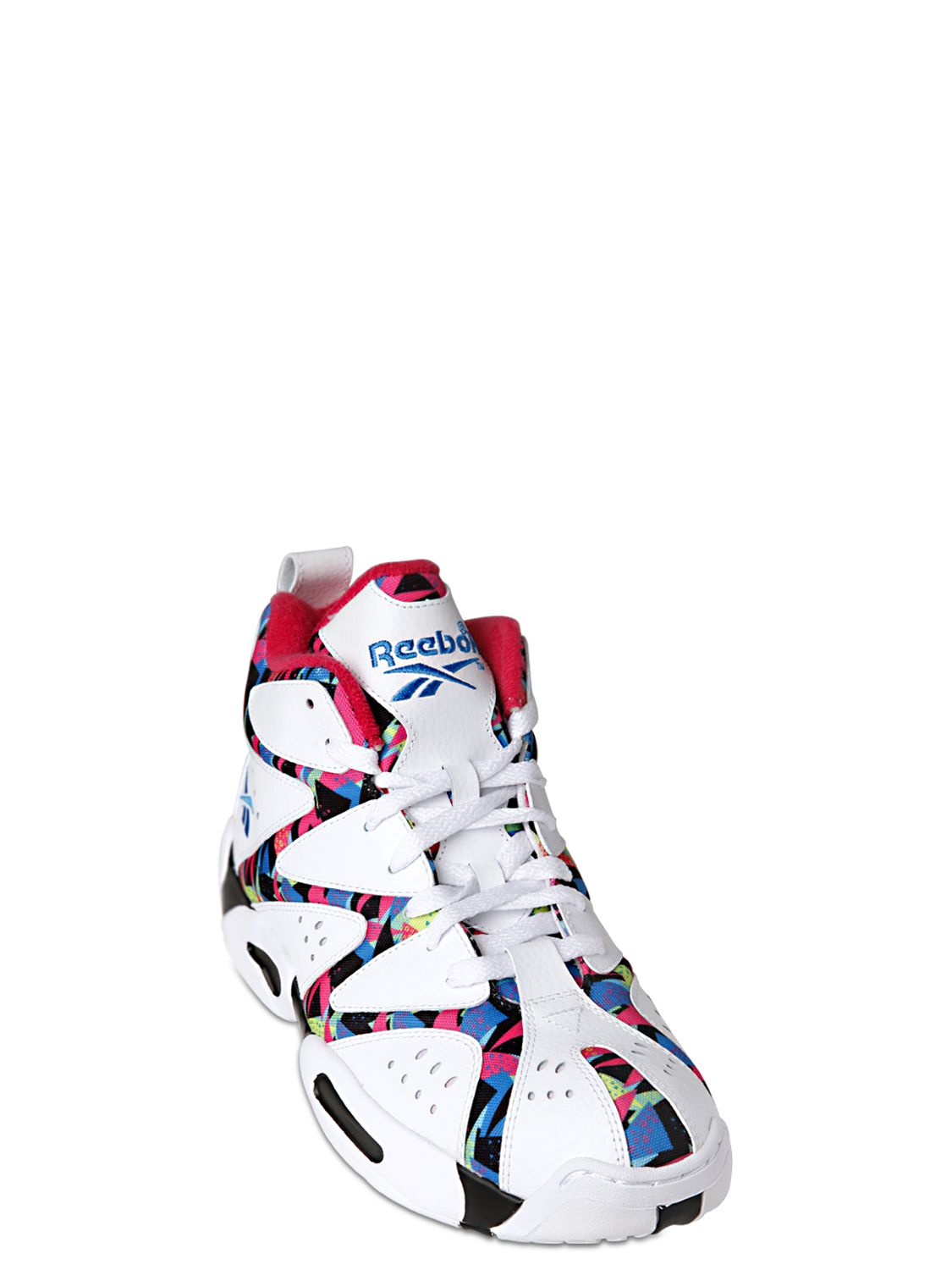 40004cd0ebb508 Lyst - Reebok Kamikaze I Printed Leather Sneakers in White for Men