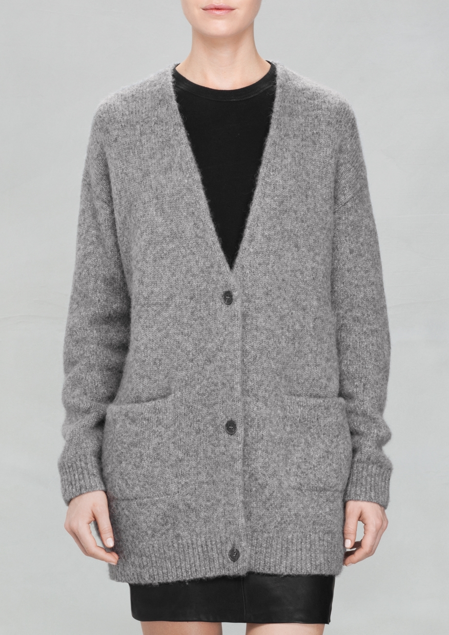 & other stories Wool-blend Cardigan in Gray | Lyst