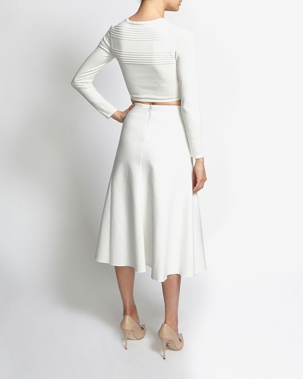 White Midi Flare Skirt - Dress Ala