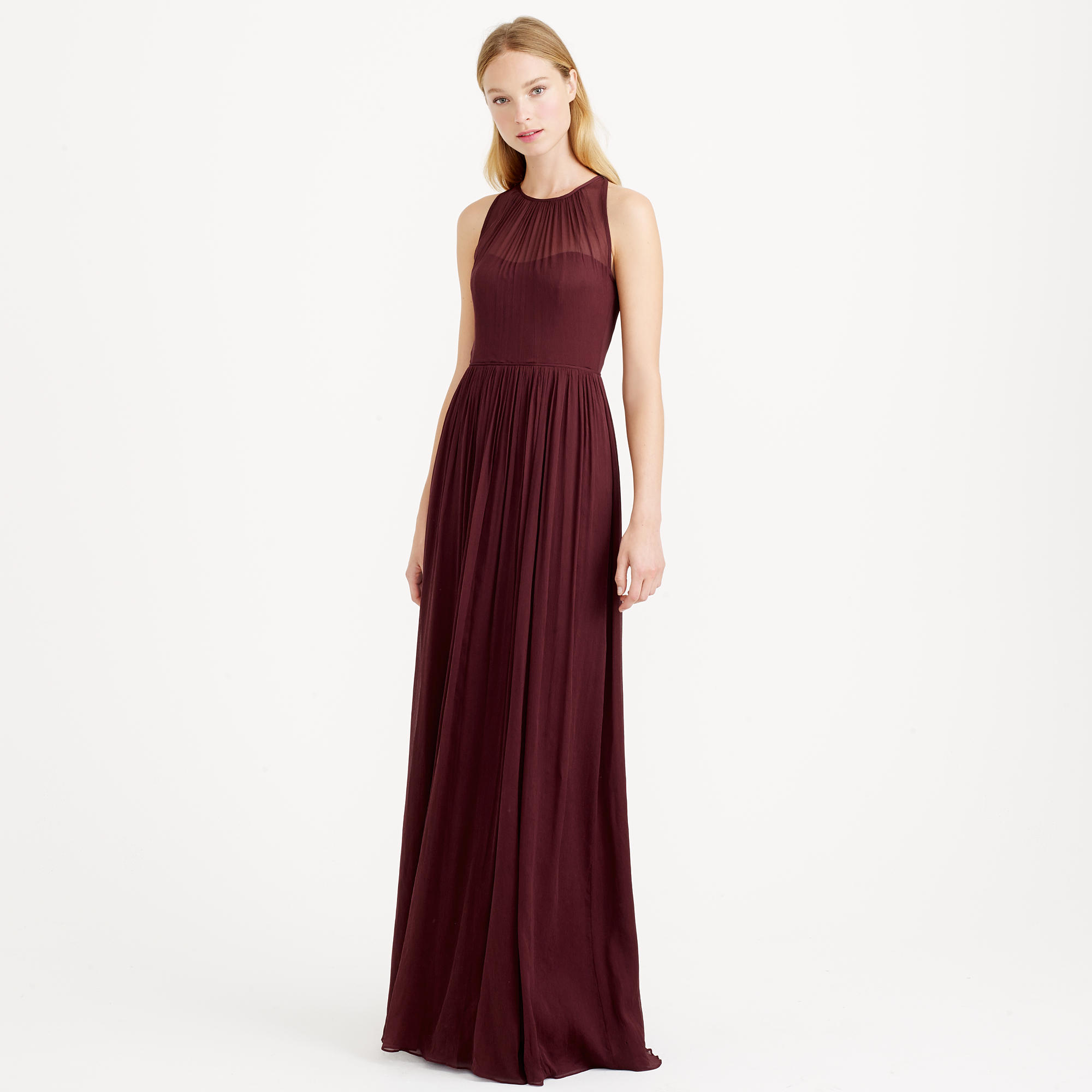 Jew megan long dress in silk chiffon in red lyst gallery ombrellifo Choice Image