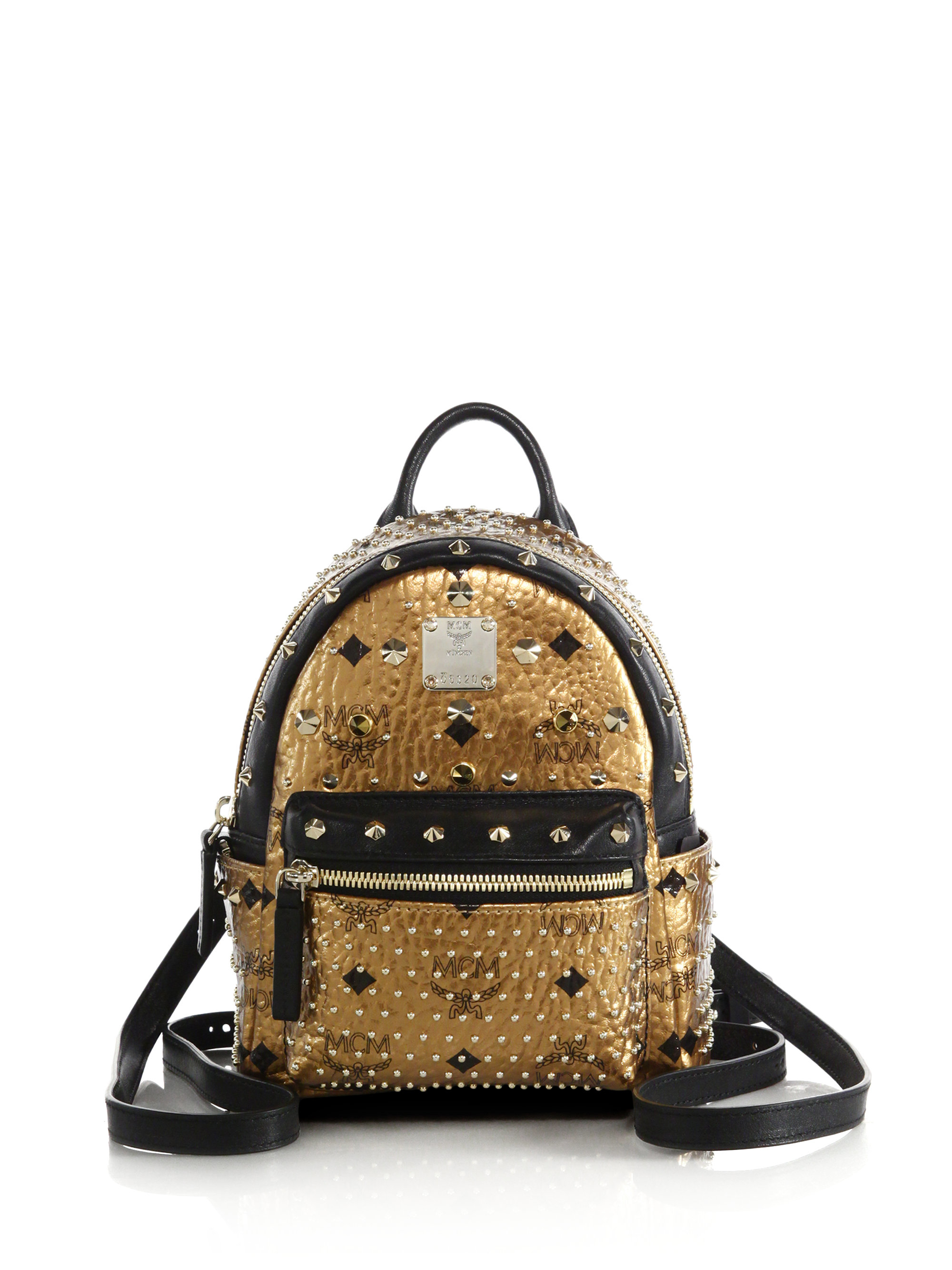 bb2bd17ad95b Lyst - MCM Small Dual Stark Backpack in Metallic