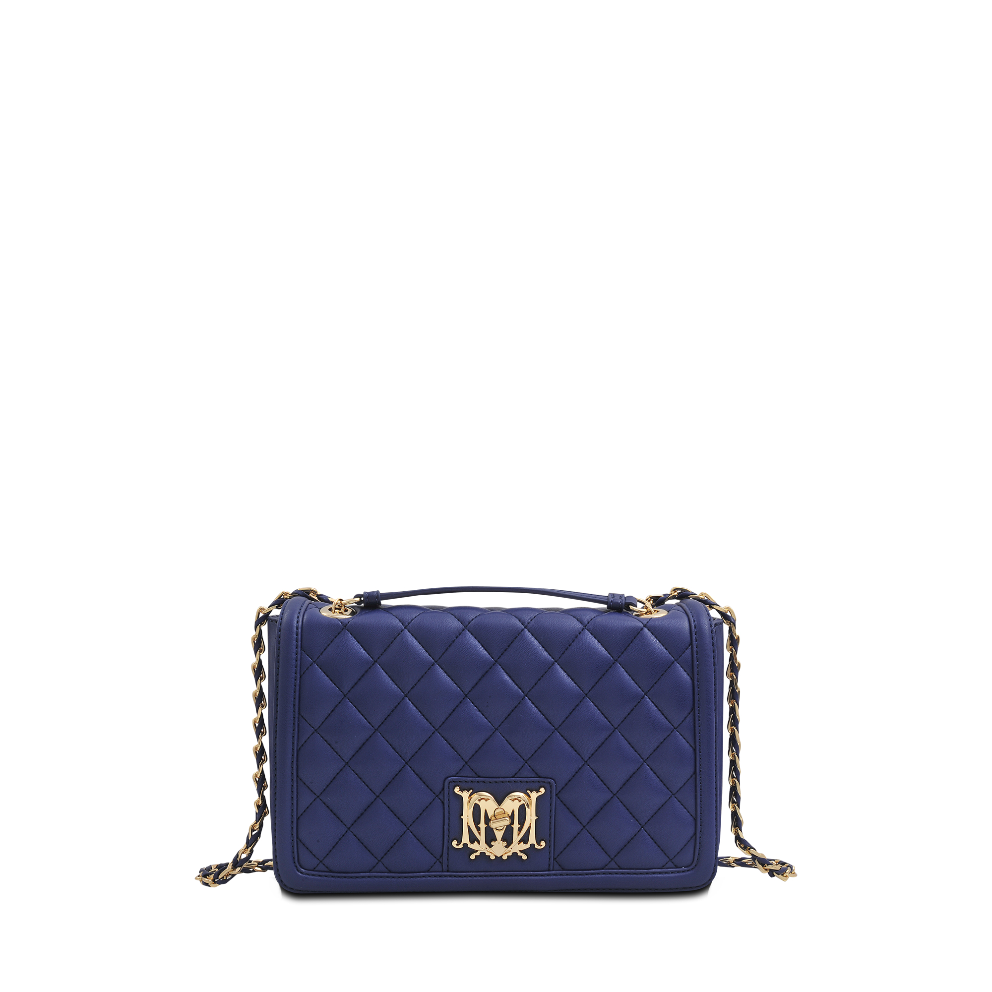 0af92c04de Love Moschino Super Quilted Flap Bag in Blue - Lyst