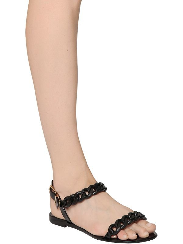 2134a4b8bebc Lyst - Givenchy 10mm Nea Jelly Sandals in Black