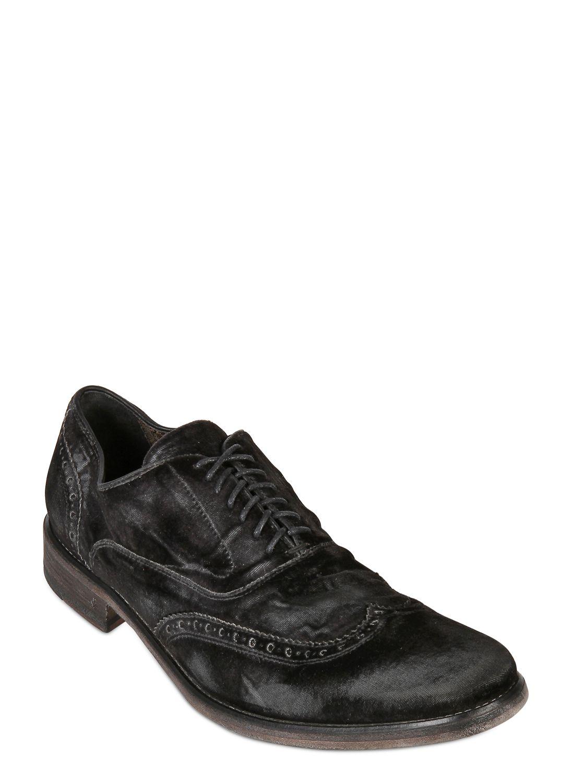 John Varvatos Fleetwood Brogue Velvet Oxford Shoes In ...