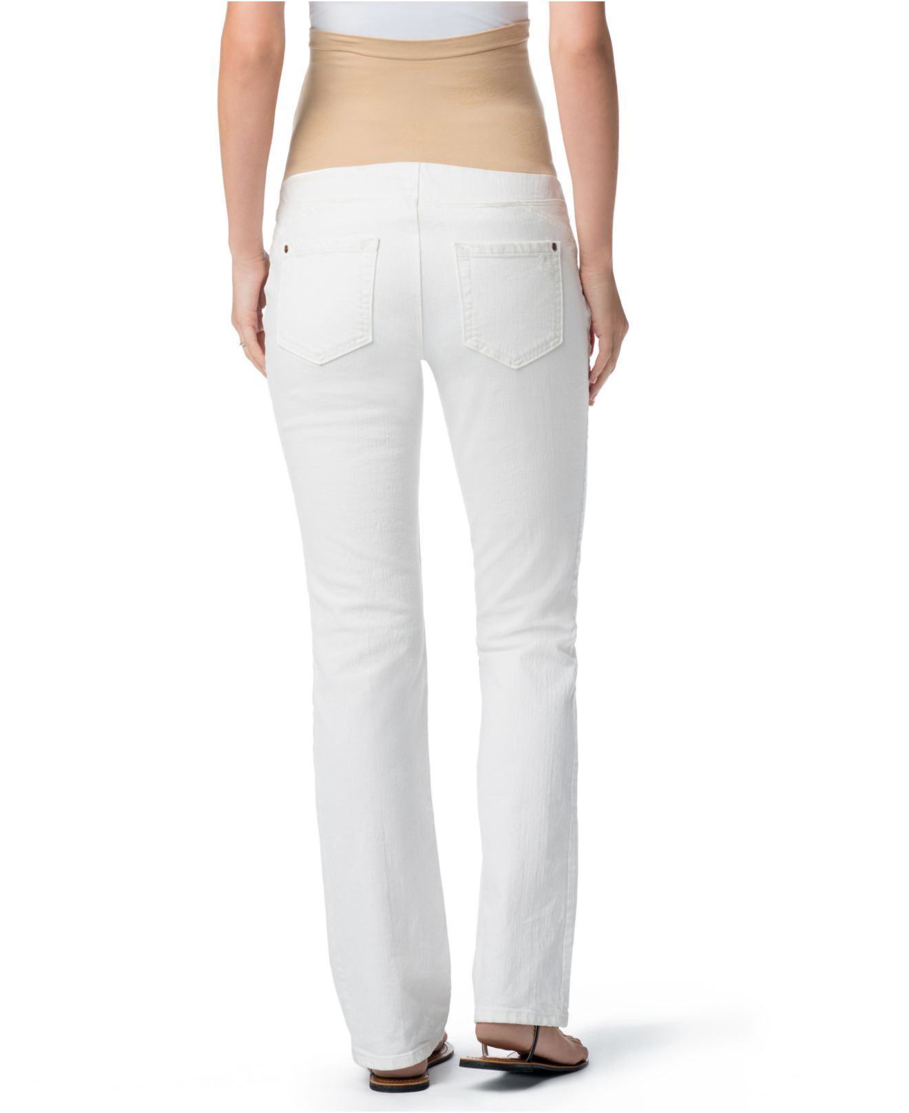 Jessica simpson Maternity Bootcut Maternity Jeans in White | Lyst