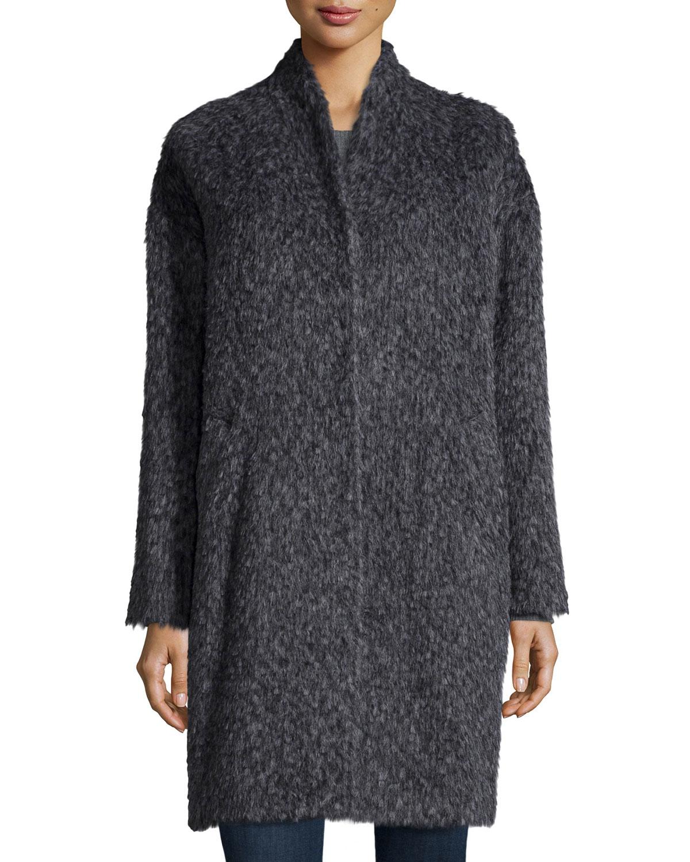 Eileen Fisher Fisher Project Fuzzy Alpaca Blend Coat In