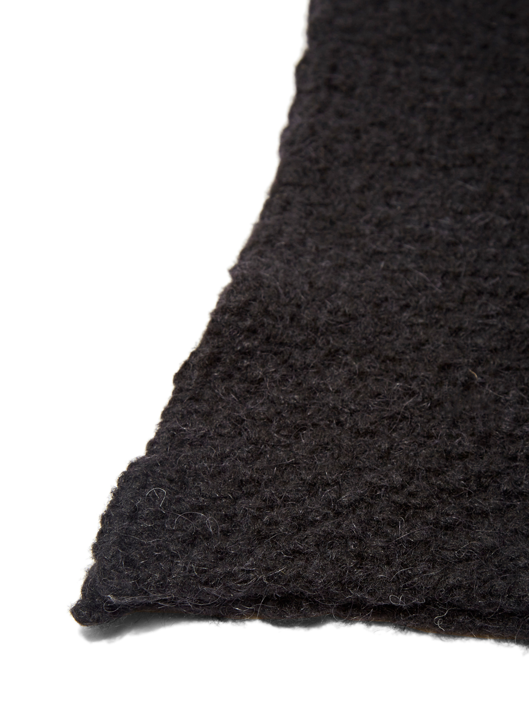 thamanyah alpaca wool hooded scarf in black for lyst