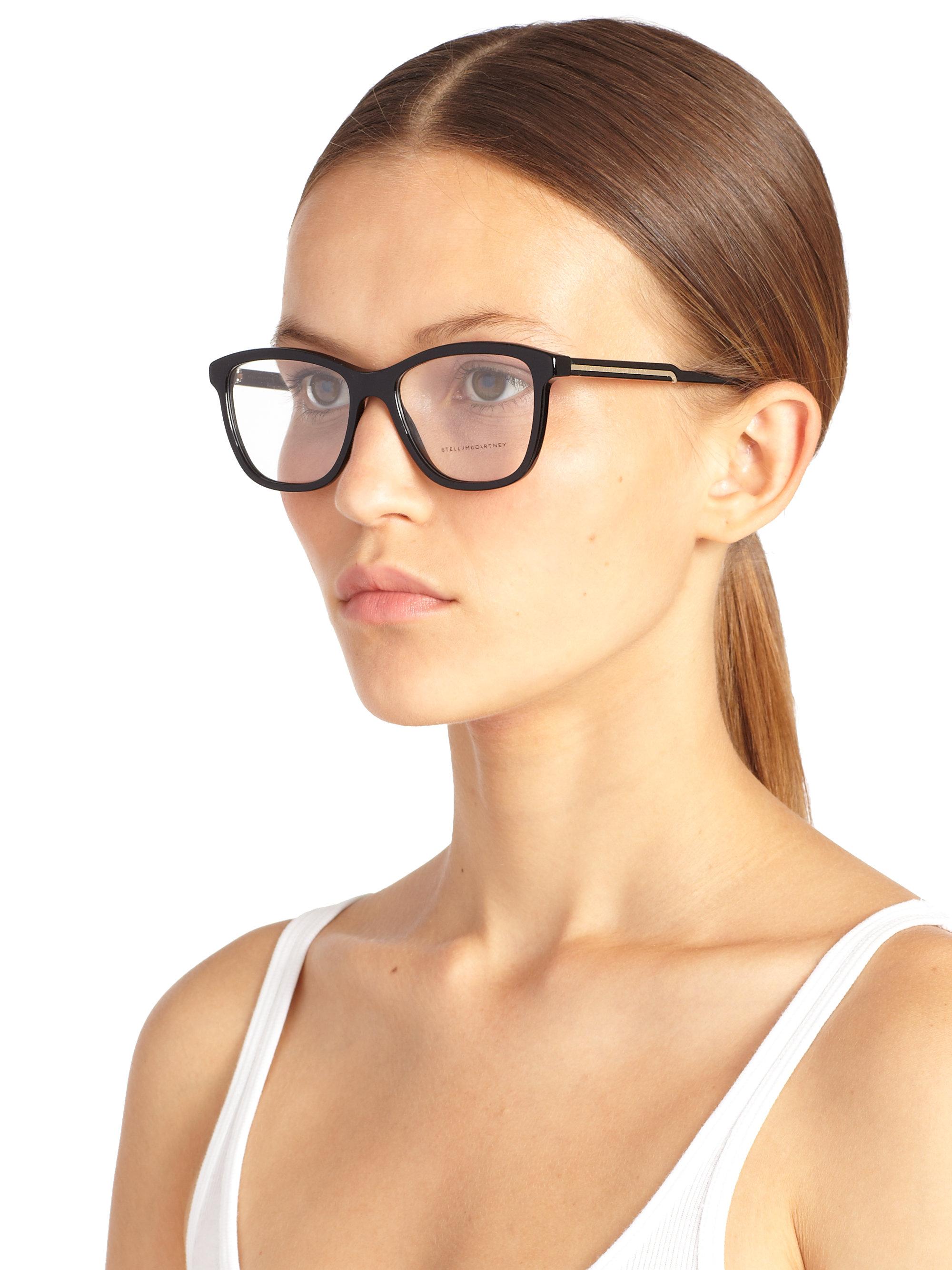 Stella mccartney Rectangular 54Mm Optical Glasses in Black ...