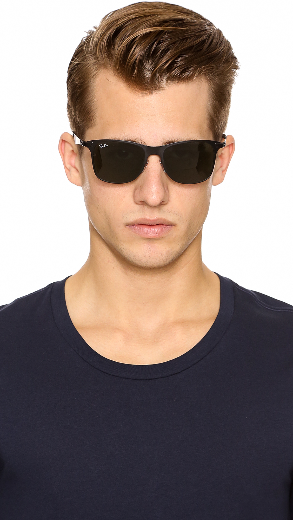 classic ray ban wayfarer sunglasses  Ray-ban Flat Metal Wayfarer Sunglasses in Black for Men