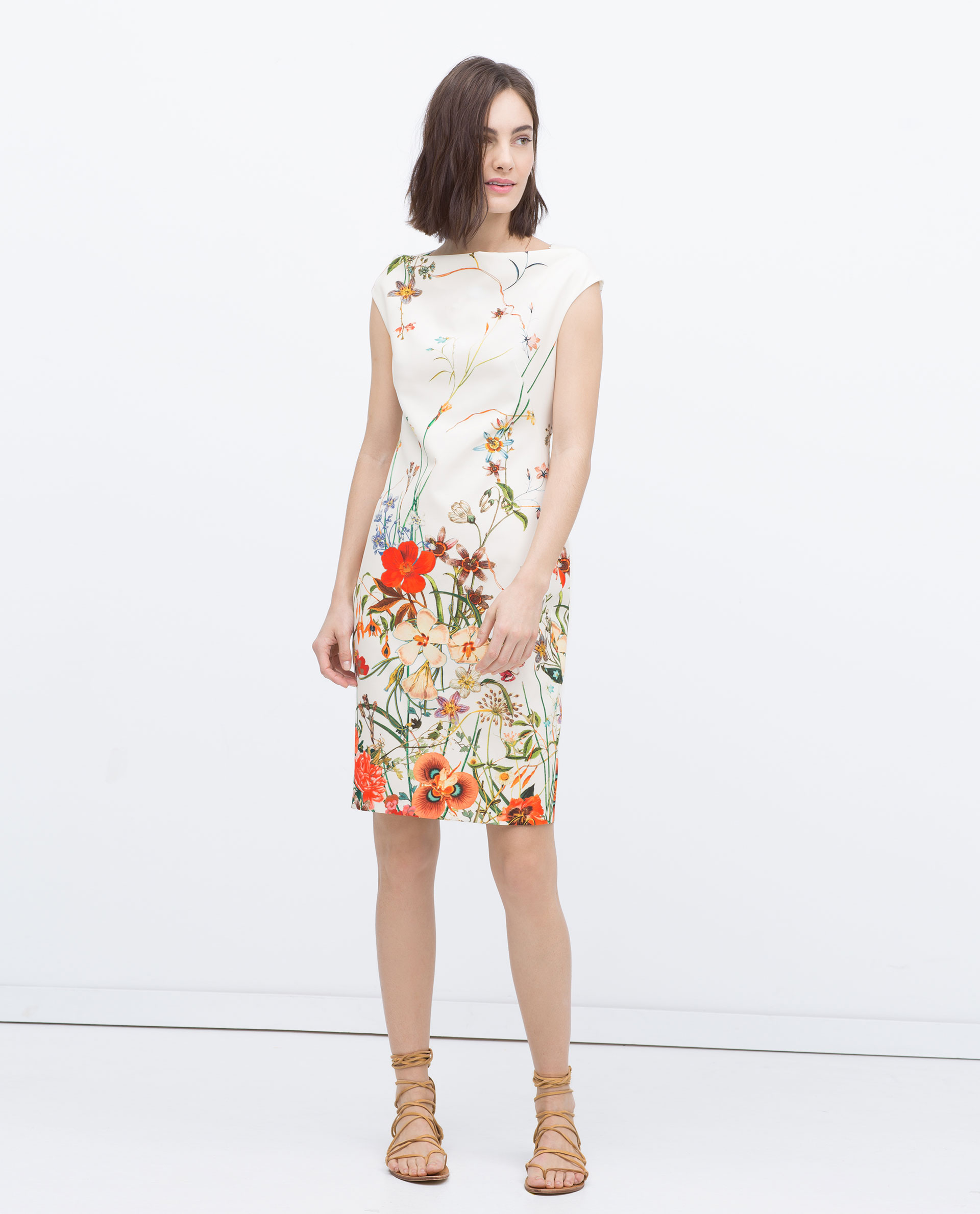 Women's Floral Printed Tube Dress