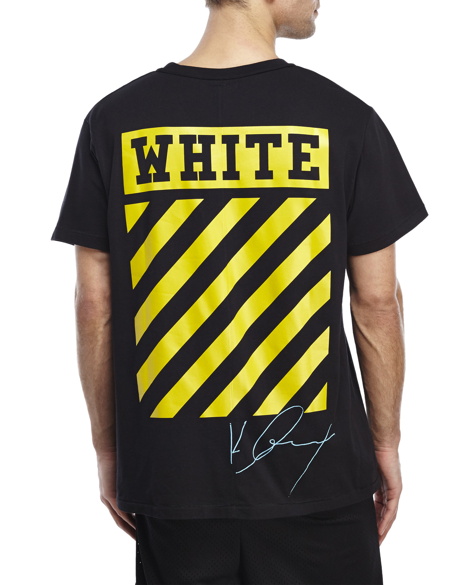 Off white c o virgil abloh graphic t shirt in black for for White shirt with black