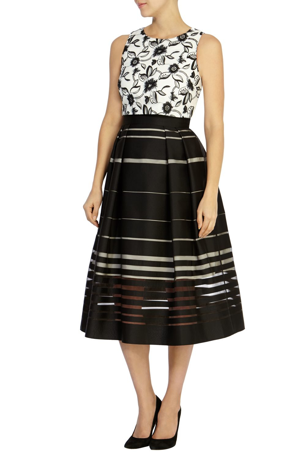 Coast Dorian Stripe Skirt Dress In Black Lyst