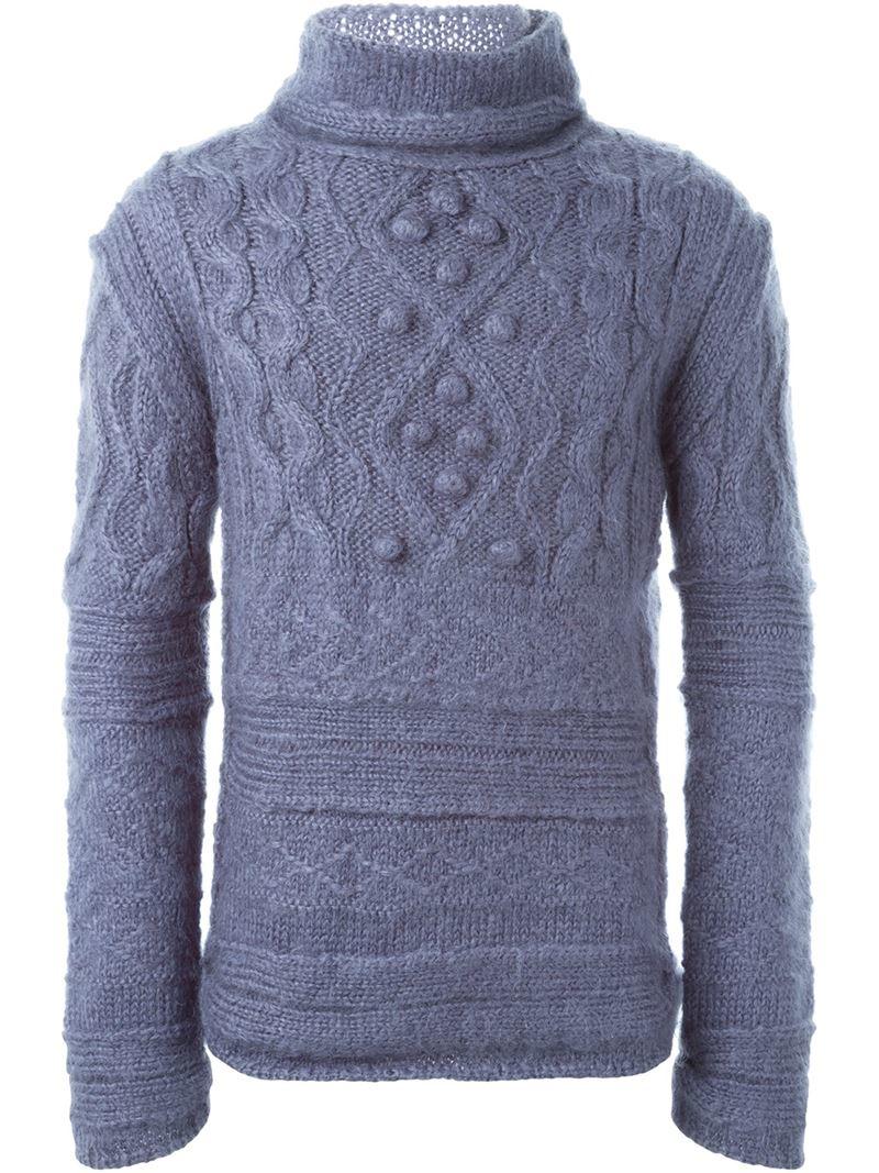 Lyst - Jean Paul Gaultier Aran Knit Sweater for Men