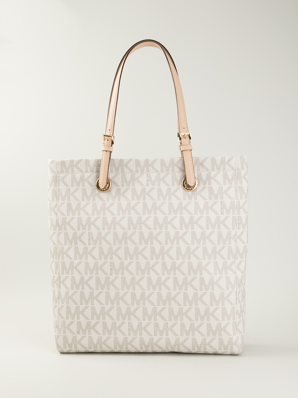 29335747cd77d1 ... best price lyst michael michael kors jet set shopper tote in natural  df247 0a9bd