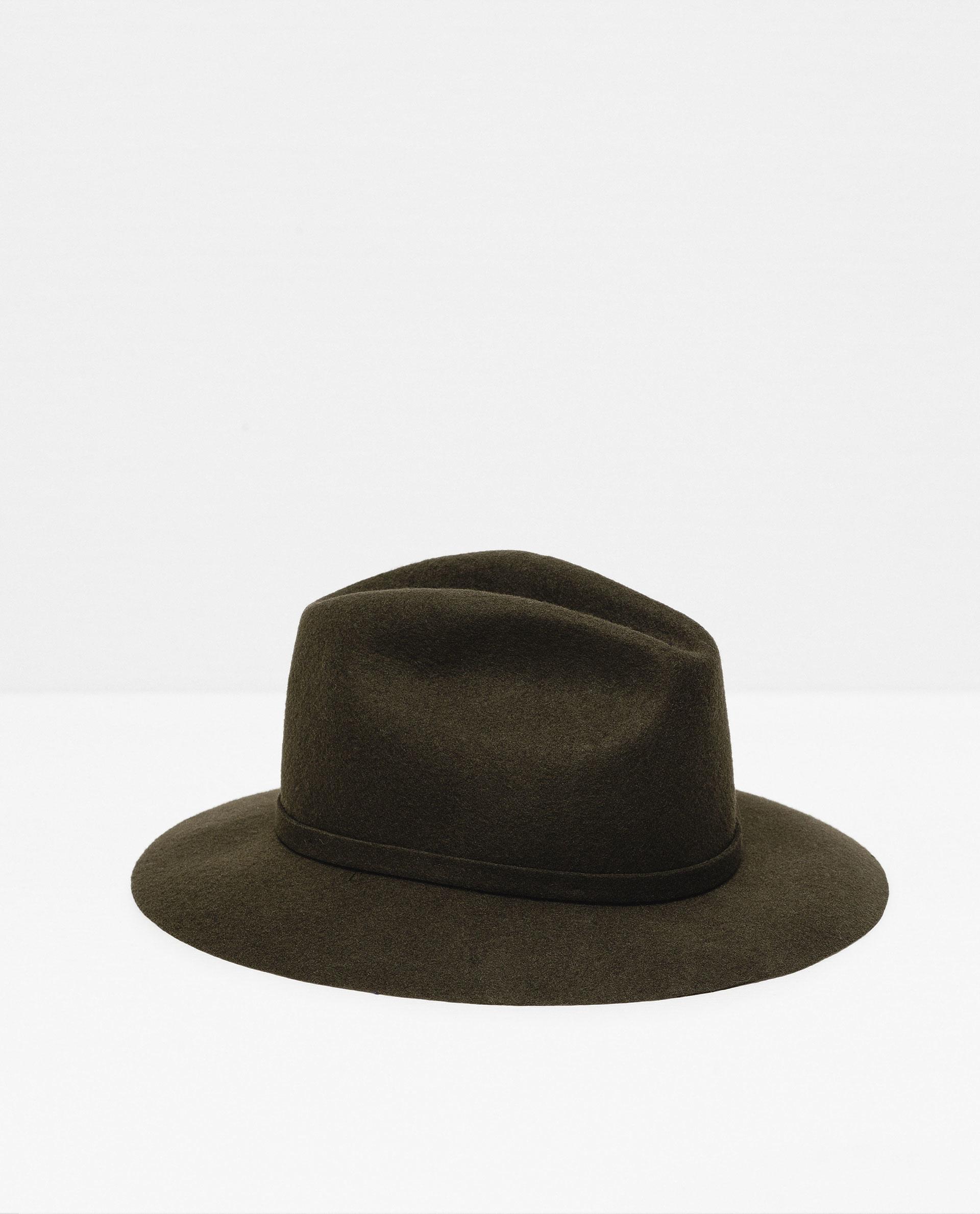 zara felt hat in brown lyst