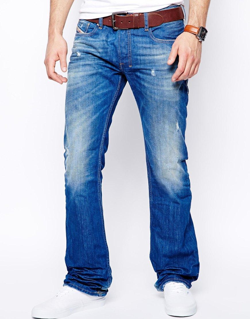 Diesel Jeans Zatiny 823U Bootcut Light Wash in Blue for ... Diesel Jeans Men Bootcut