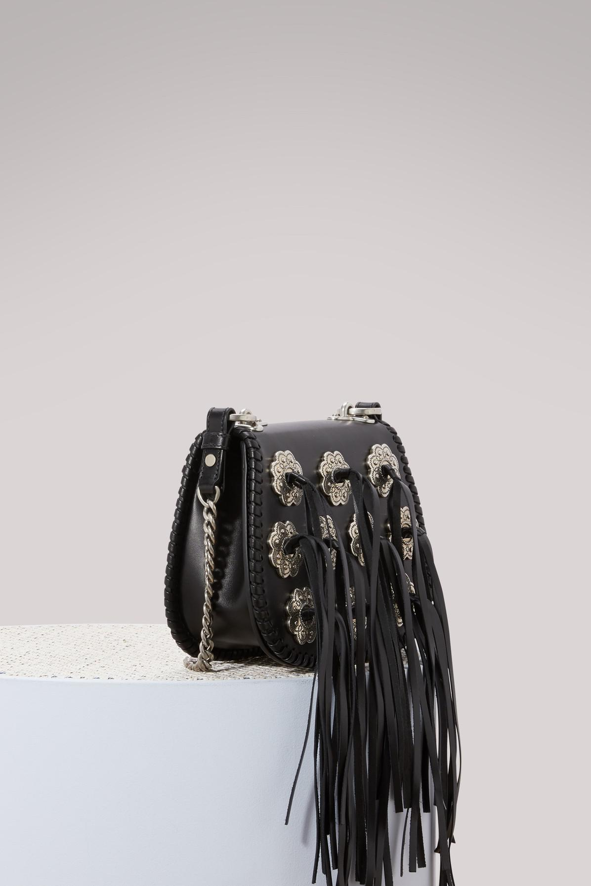 137296b733b5 Prada Folk Hobo Crossbody Bag in Black - Lyst