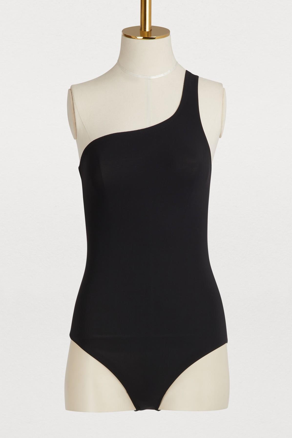 ef9b7f7e62ead Lyst - Étoile Isabel Marant Sage One-shoulder Swimsuit in Black