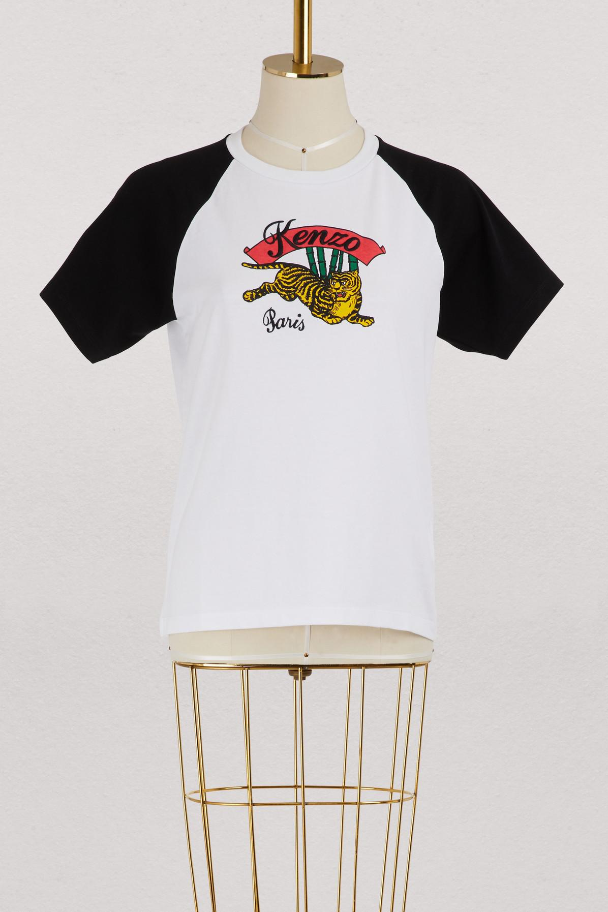 5b8b8c618f56 KENZO Cotton Jumping Tiger T-shirt in White - Lyst
