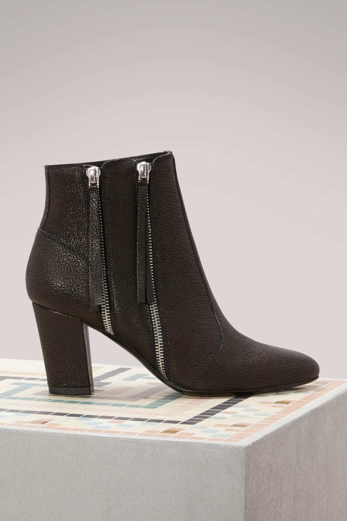 MICHEL VIVIEN Leather Ankle Boots