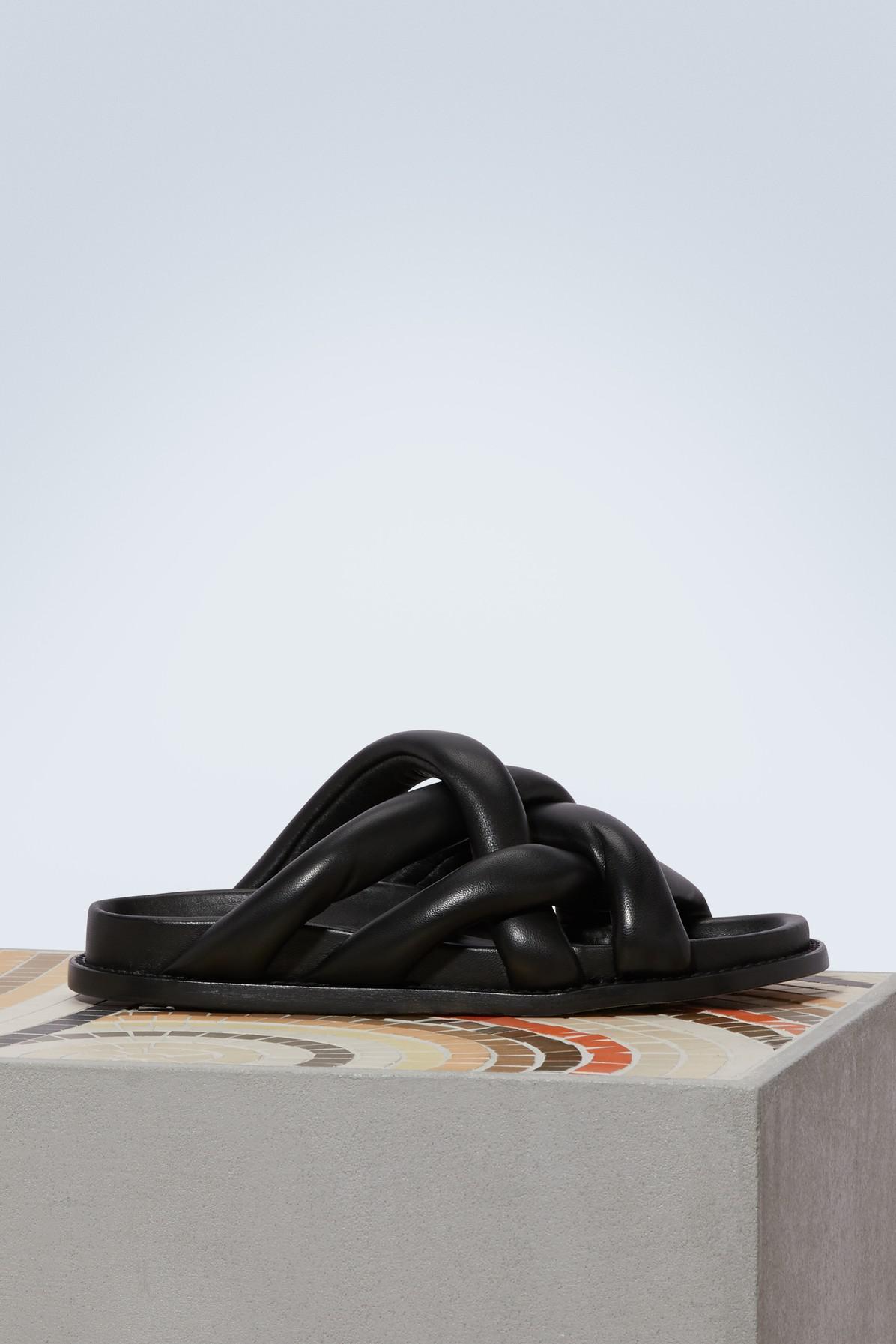 Proenza Schouler Traced leather mules