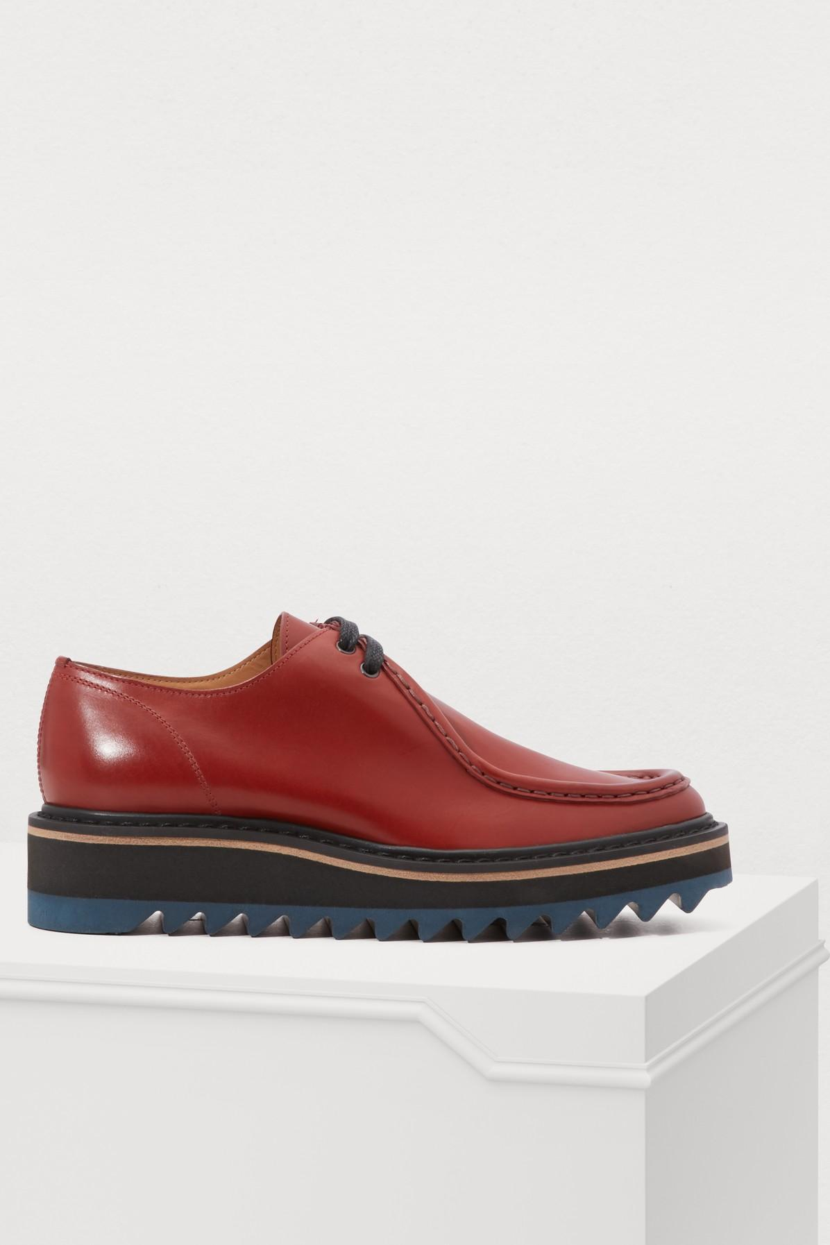 8a0a1b1006 Dries Van Noten Leather Derby Shoes in Red - Lyst