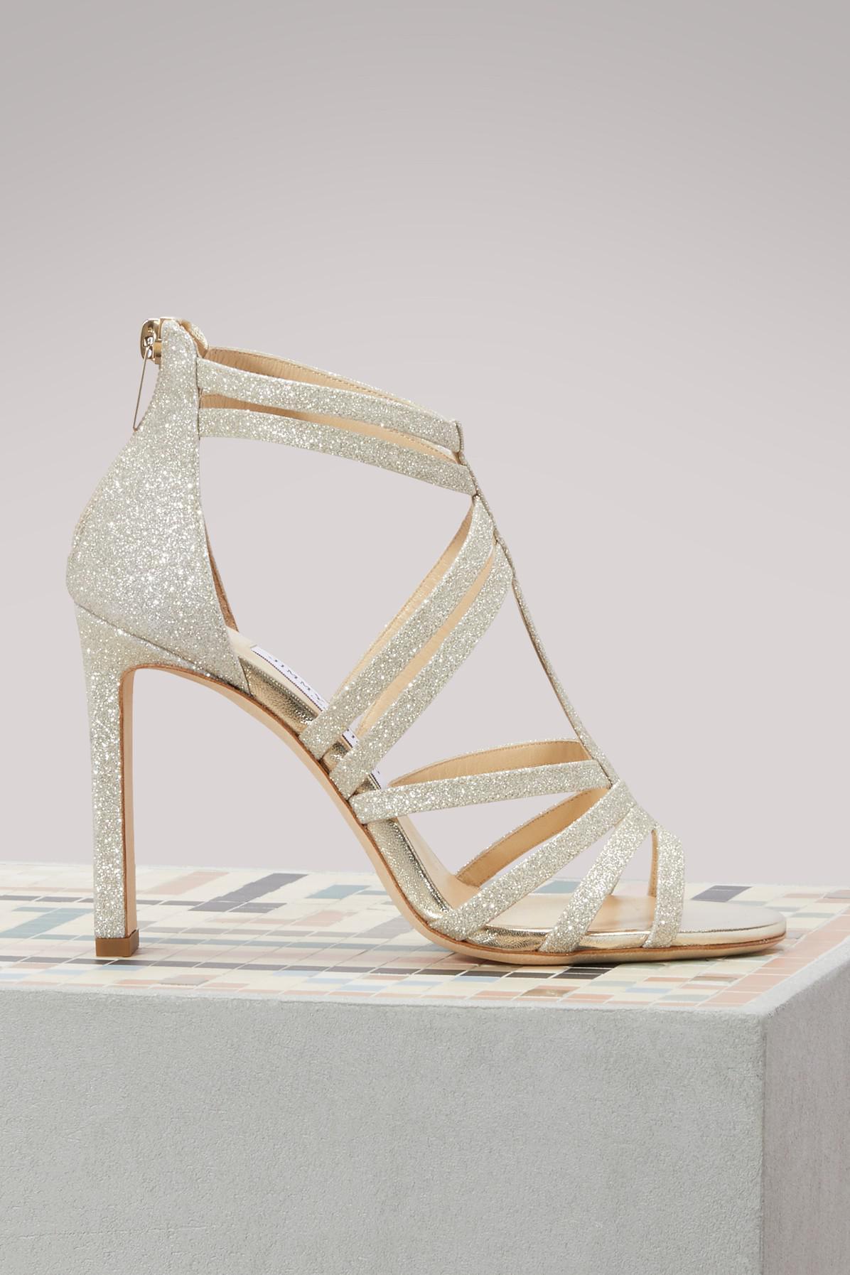5375733f5c5 Lyst - Jimmy Choo Selina 100 Sandals