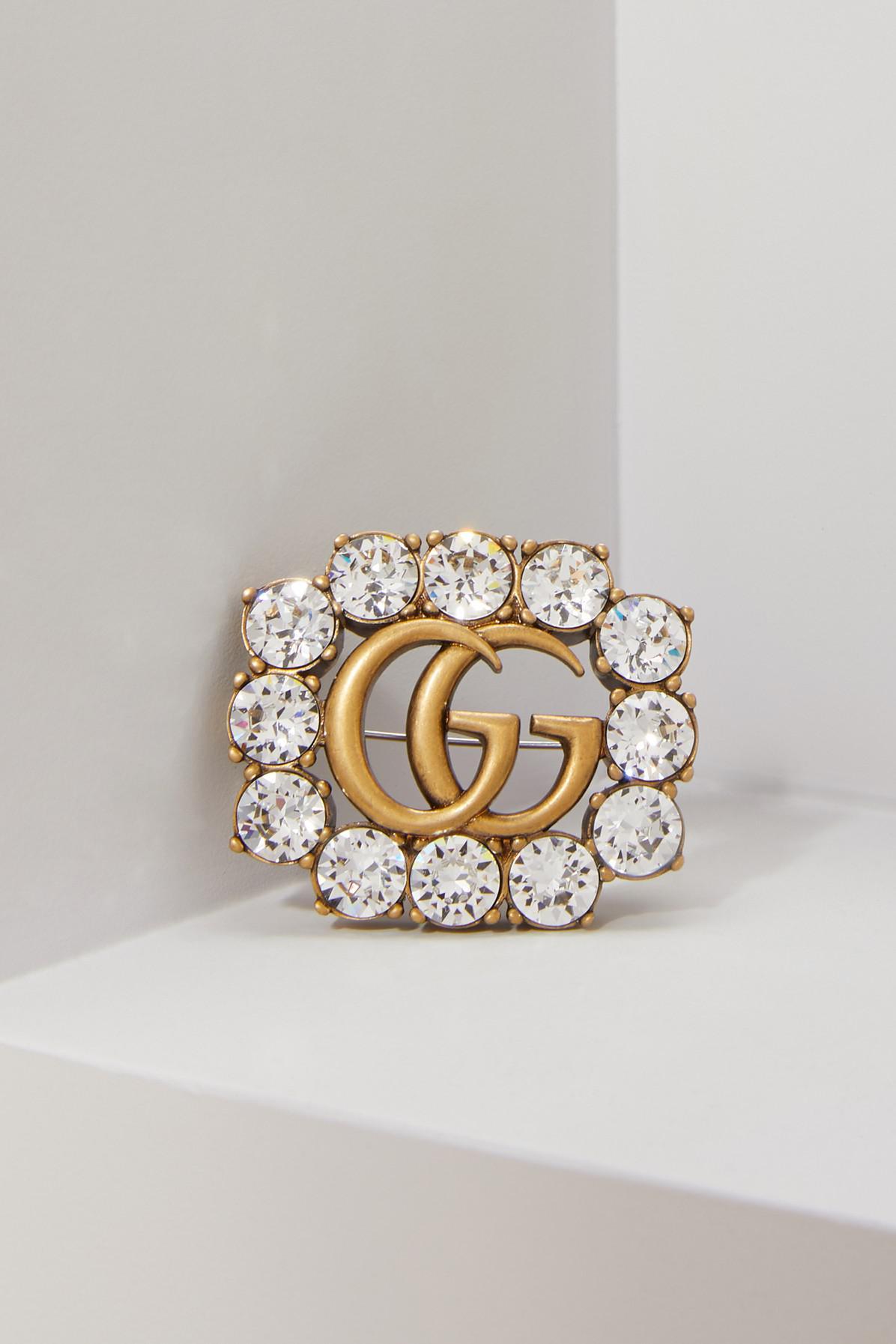 Gucci crystal Double G ring - Metallic GvXEjn