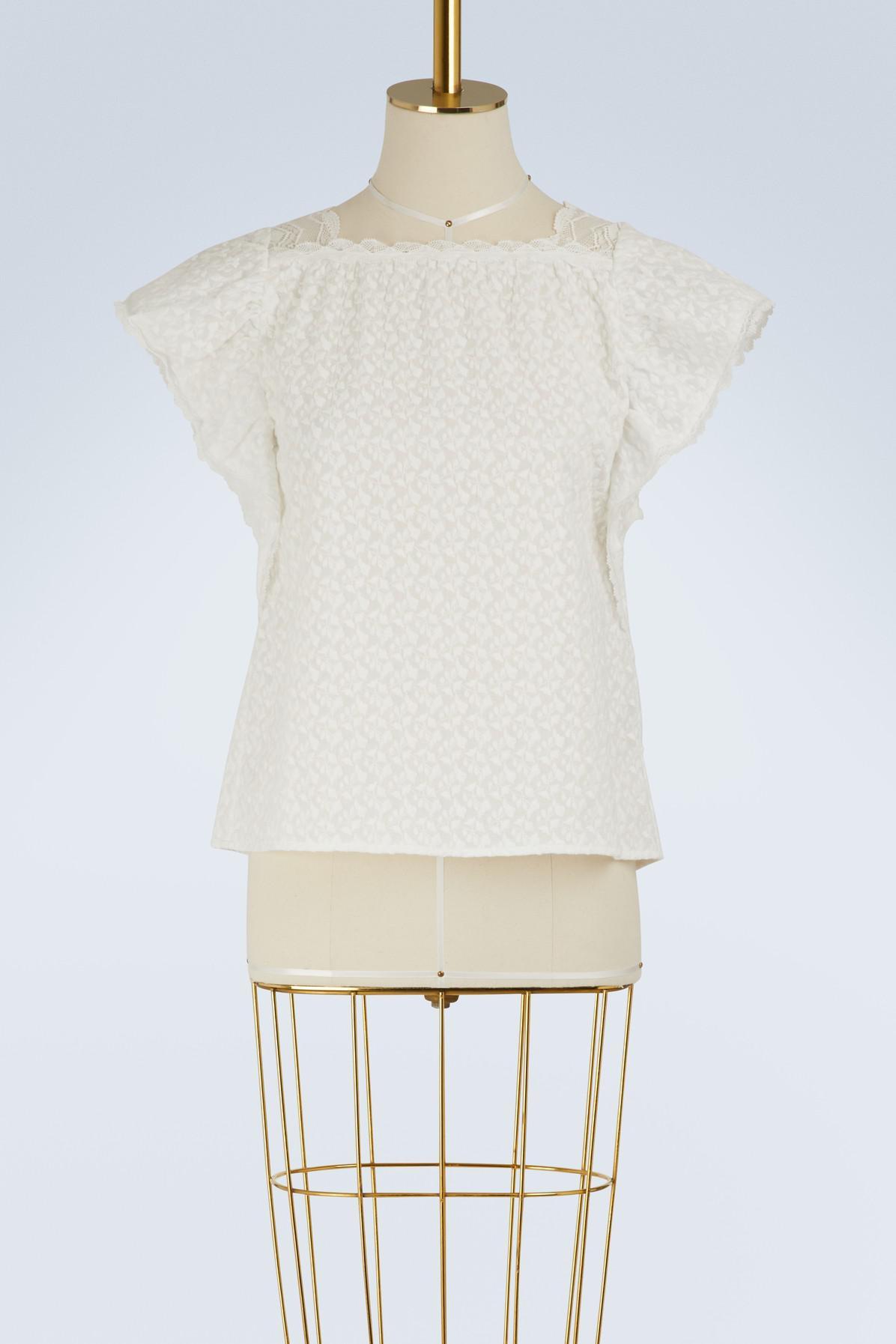 Geniue Stockist Sale Online Iliane cotton top Vanessa Bruno Sale Get Authentic Official Site Cheap Online Designer qwx47Jj