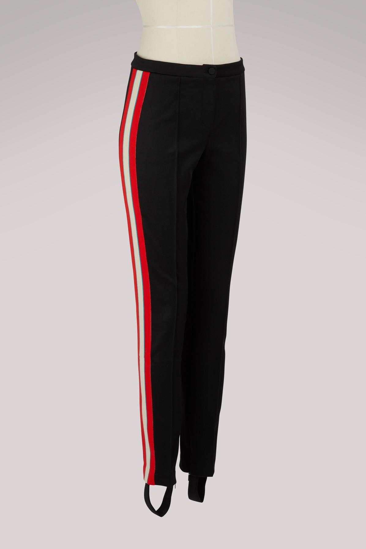 ea541c5941e Gucci - Black Technical Jersey Stirrup legging With Crystals - Lyst. View  fullscreen