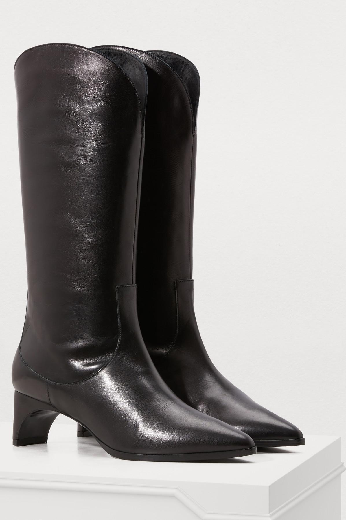 4e9976cc04e Pierre Hardy - Black Cassidy Heeled Cowboy Boots - Lyst. View fullscreen