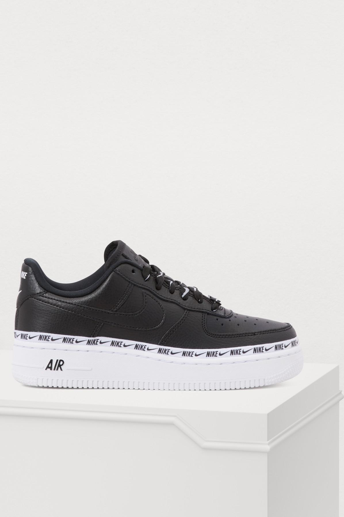 new style b801d 726a1 Nike Air Force 1 07 Se Prm Sneakers in Black - Lyst