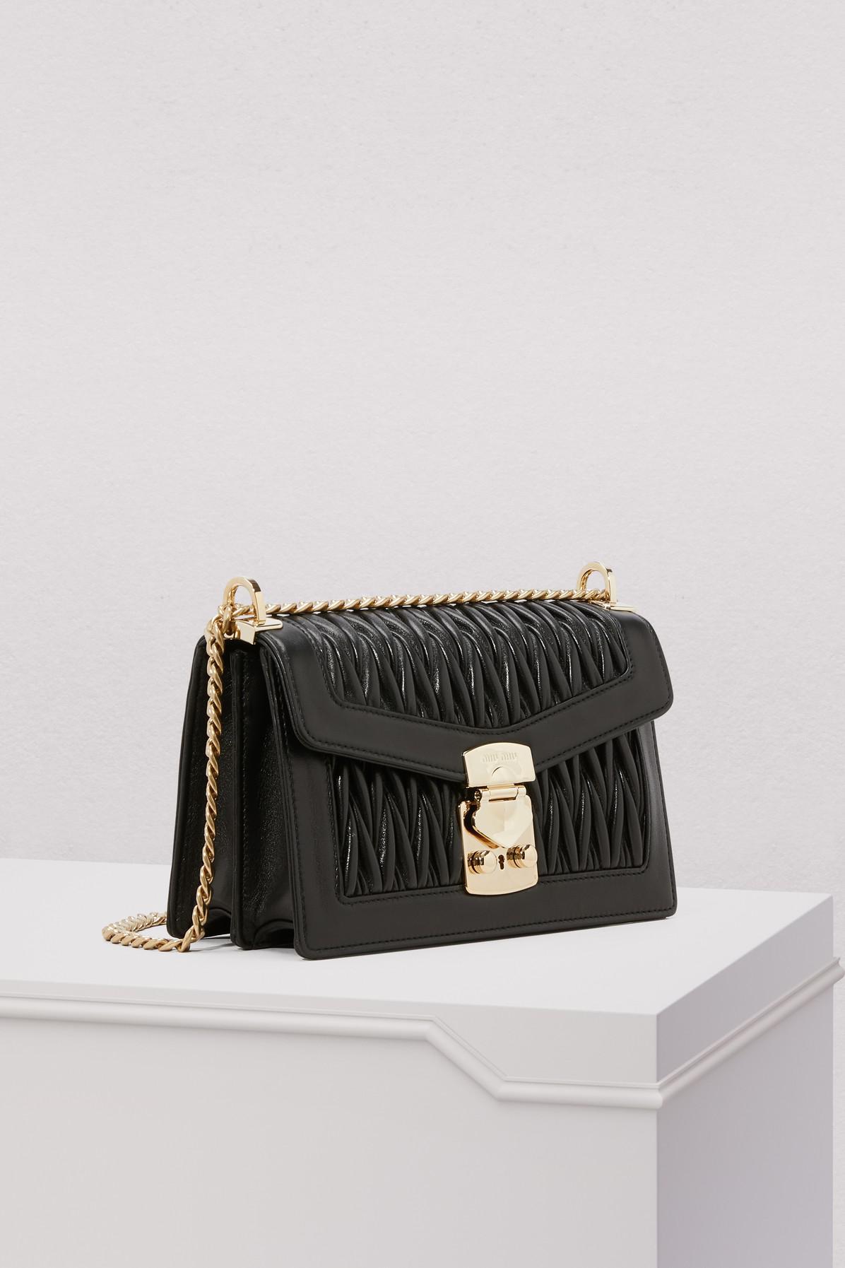 Miu Miu - Black Double Duffle Shoulder Bag - Lyst. View fullscreen 6cb56fdf03f9c