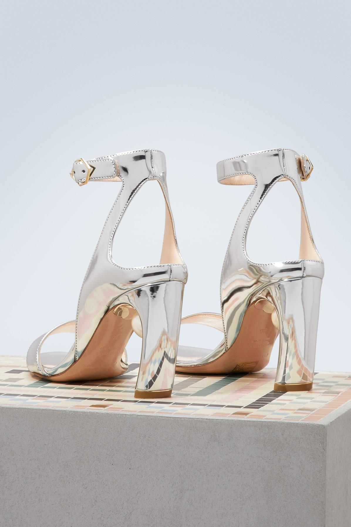 b609e120867 Nicholas Kirkwood - Metallic Lola Pearl Sandals - Lyst. View fullscreen