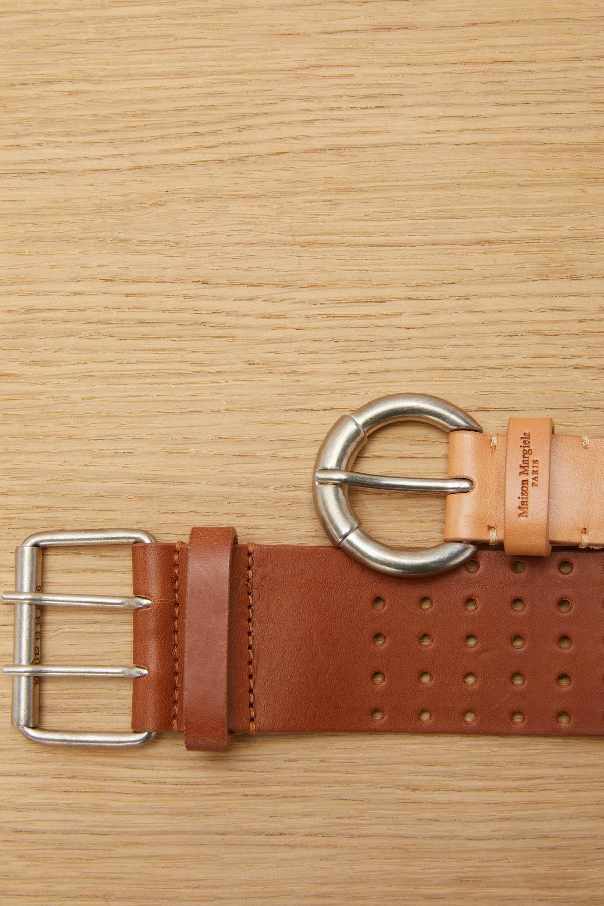 perforated double belt - Brown Maison Martin Margiela fZNLi6W
