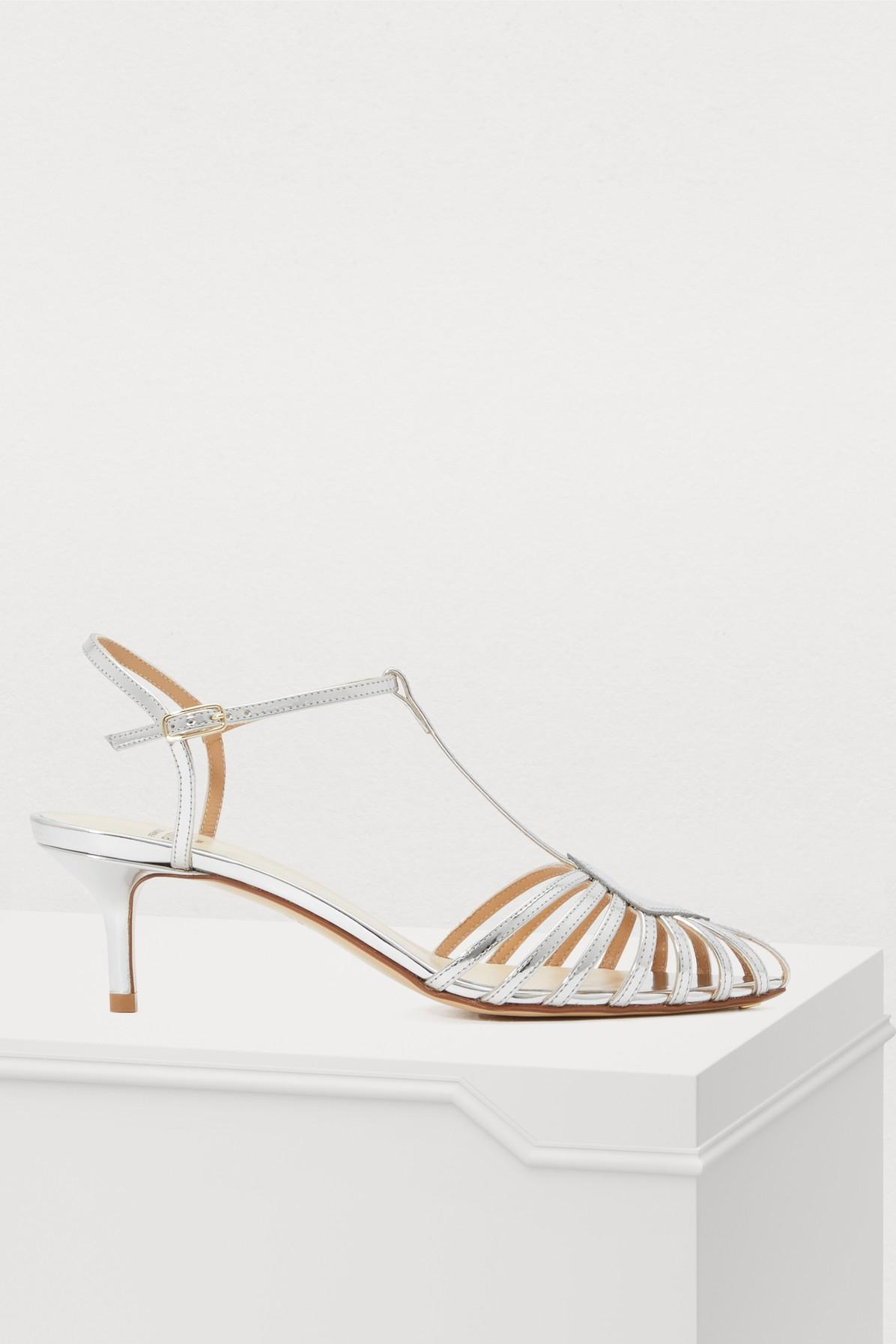 c753fbf4248 Lyst - Francesco Russo Open Silver Sandals in Metallic